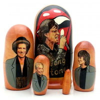 "buyrussiangifts-store - Rolling Stones Matryoshka Set 4""Tall - BuyRussianGifts Store - Nesting doll"