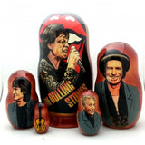 "Rolling Stones Tongue Nesting Doll Set 7"" Tall"