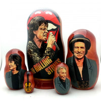 "buyrussiangifts-store - Rolling Stones Tongue Nesting Doll Set 7"" Tall - BuyRussianGifts Store - Nesting doll"