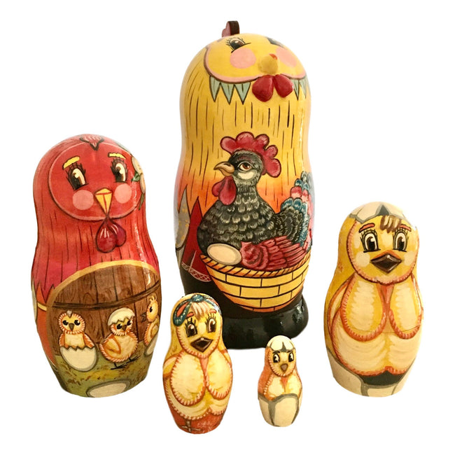 Rooster nesting dolls