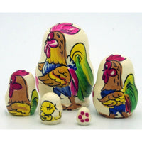Rooster Miniature Nesting Doll Set