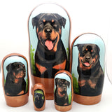 "buyrussiangifts-store - Rottweiler dog breed nesting doll 7"" Tall - BuyRussianGifts Store - Nesting doll"