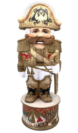 Russian artwork wooden nutcracker figurine