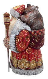 Wood carved Russian santa