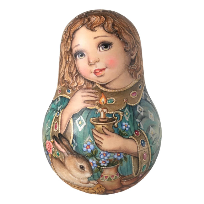 Roly poly Russian doll angel