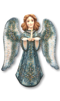 Christmas angel wood carved doll
