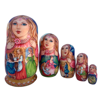 Unique russian stacking dolls Cinderella