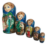 "Russian Nesting Dolls Fairytale ""Stone Flower"" Set of 5"