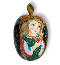Apple Shape Russian Doll Unique Artwork Signed