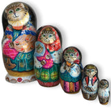 Russian cat stacking dolls