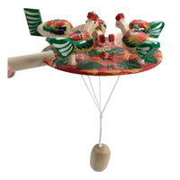 Chicken pecking paddle Russian toy