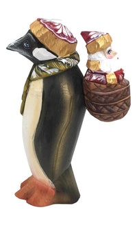 Russian wooden santa with penguin