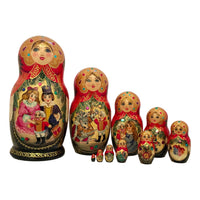 Russian dolls fairytale story
