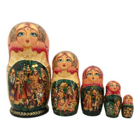 Fairy Tale Russian Nesting Dolls Firebird