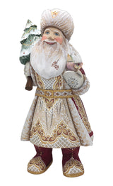 Russian Santa with bird