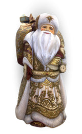 Russian Santa Claus wood carved
