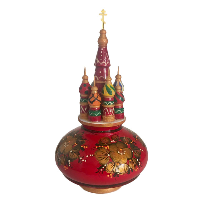 Russian Traditional Red Gold Musical Box