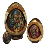 Religious nesting dolls mother of god