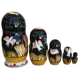 Cat Mama Kittens Authentic Russian Nesting Dolls