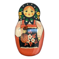 Matryoshka Doll Magnet Flower Design