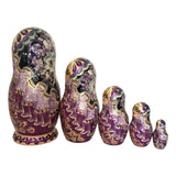 Russian nesting dolls purple