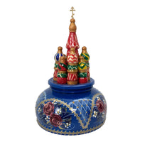 Russian church musical box blue