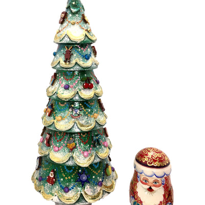 Large Christmas tree matryoshka