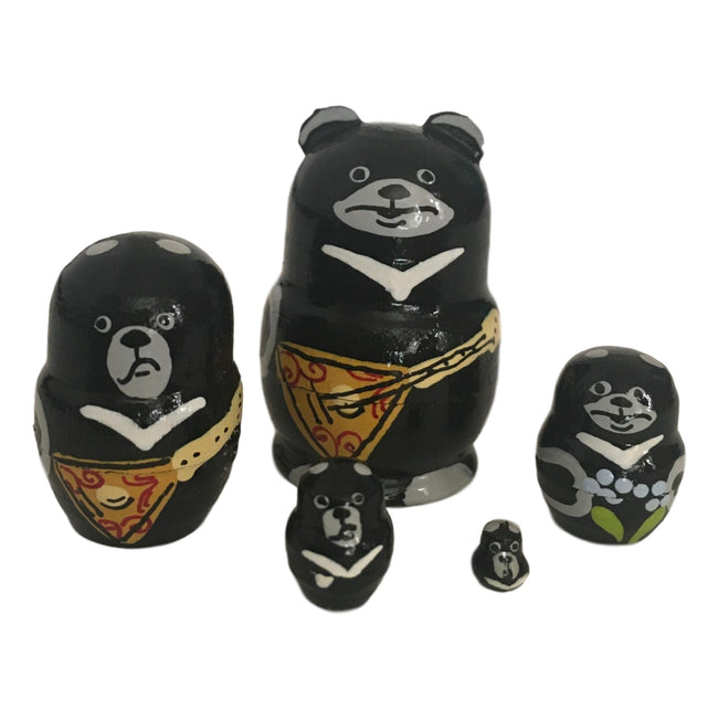 Black bear Russian dolls