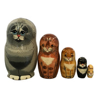 Grey cat matryoshka