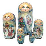 Russian nesting dolls fairytale snow queen