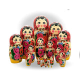 Babushka large set Russian dolls