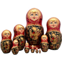 Large set of Russian matryoshka