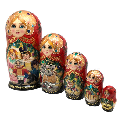 Authentic Russian nesting dolls nutcracker story