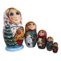 Family nesting dolls Christmas gift