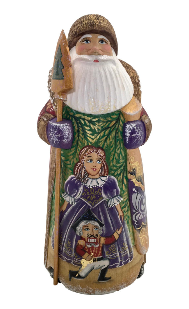 Traditional santa wood carved
