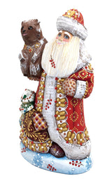 Russian Santa with bear and Xmas tree