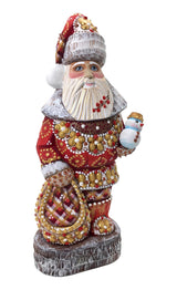 Russian Santa Claus wood figurine
