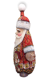 Unique shape hand carved Santa with nutcracker