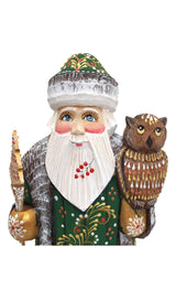 Traditional russian Santa with an owl