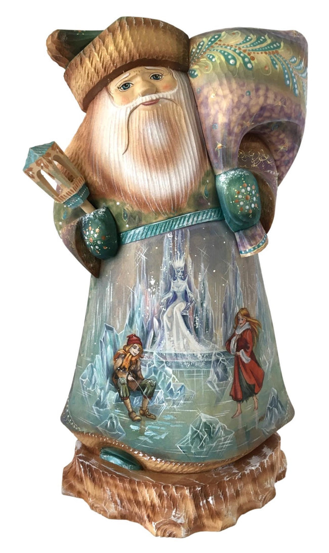 Russian Santa hand painted blue