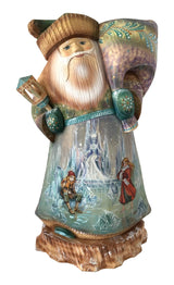 Authentic Russian wooden father frost