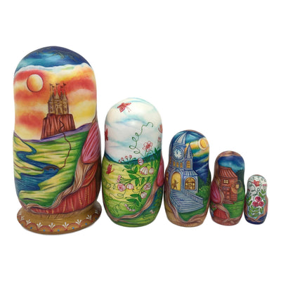 Best gift from Russia Cinderella nesting dolls