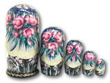Snow Queen Russian Nesting Dolls Storyteller set of 5