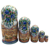 "Russian Matryoshka "" Couple in love"" wedding set of 5 dolls"