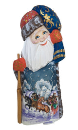 Wooden Santa Claus Russian