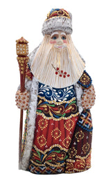 Russian Santa wood carved figurine