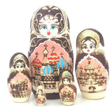 "Russian Church in Gold Nesting Doll 6"" Tall"