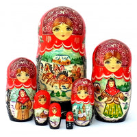 Russian Troika 7 Piece Nesting Doll Set