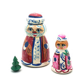 Santa and Mrs Clous nesting doll set