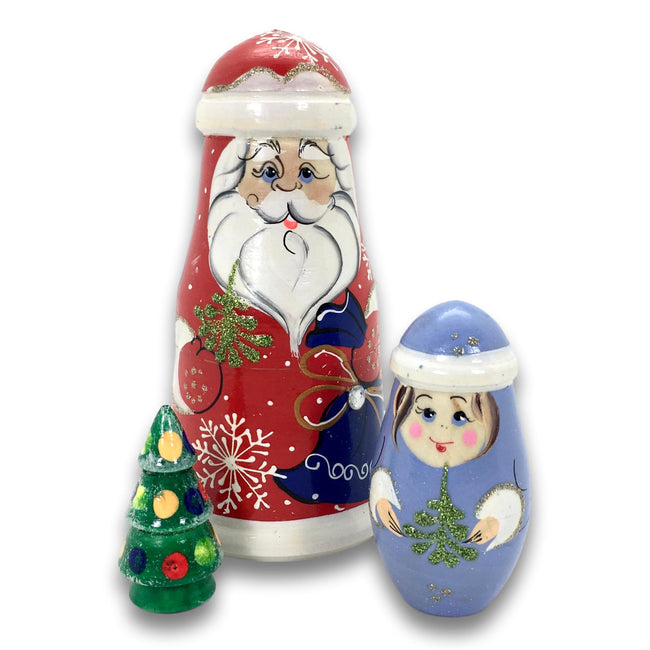 Santa Christmas tree Russian dolls